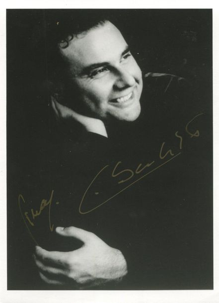 OPERA: Selection of signed postcard photographs and slightly larger, 8 x 10s (2)…