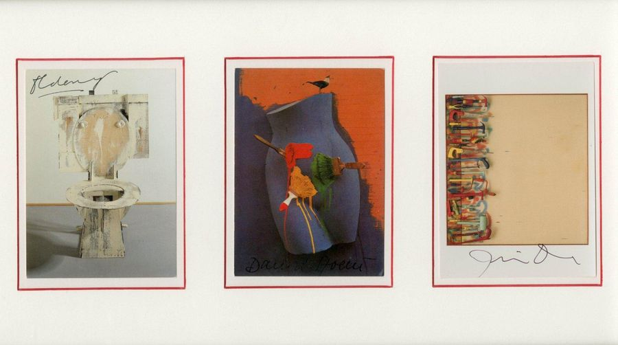 POP ART: An attractive selection of three signed postcards by various artists, c…