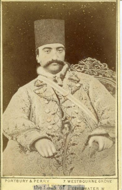 [NASER AL DIN SHAH QAJAR]: (1831 1896) King of Persia 1848 96. First Iranian mon…