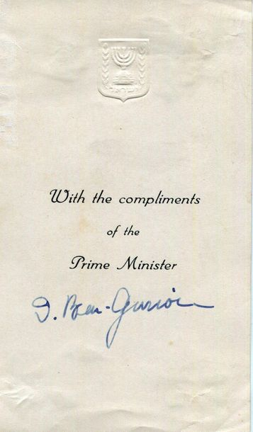 BEN GURION MEIR RABIN: An excellent selection of three signed Prime Minister com…