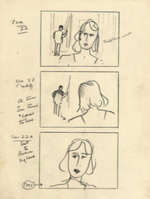 "Alfred HITCHCOCK ""Stage Fright"" STORY BOARD"
