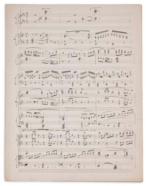 RAVEL MAURICE (1875-1937) MANUSCRIT MUSICAL autographe, [La Nuit], (1902); 8 pages…