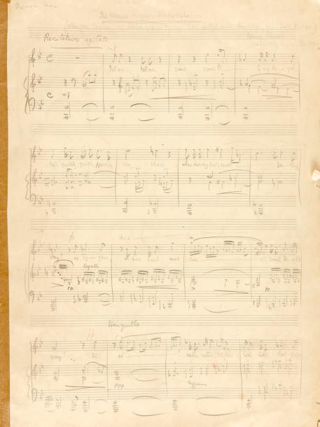 BRITTEN Benjamin (1913-1976). MANUSCRIT MUSICAL autographe, The Blessed Virgin's…