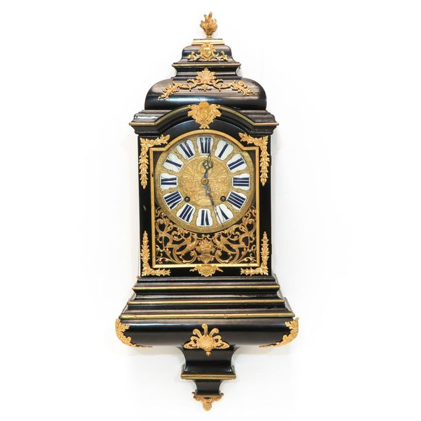 A Swiss Console Clock Circa 1730 With repetitionl height 94 cm.
