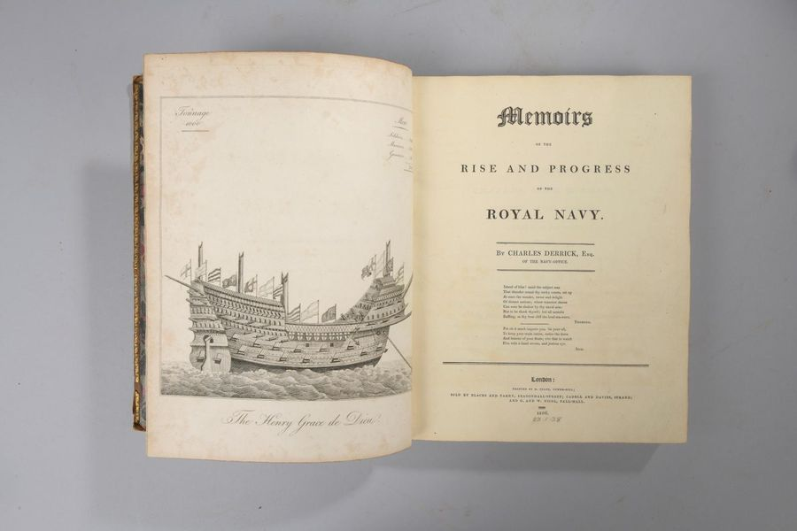 [MARINE]. DERRICK (Charles). Memoirs of the Rise and Progress of the Royal Navy.…
