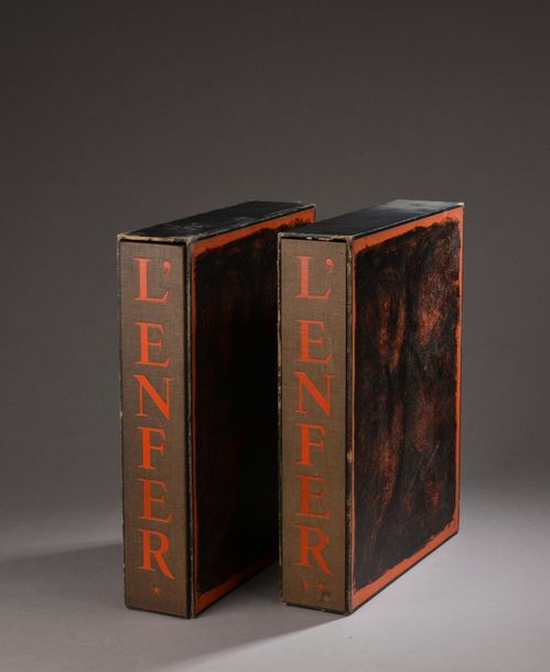 ALIGHERI Dante, L'enfer, Paris, Éditions Jean Porson, 1950. Grand in-4, deux tomes…