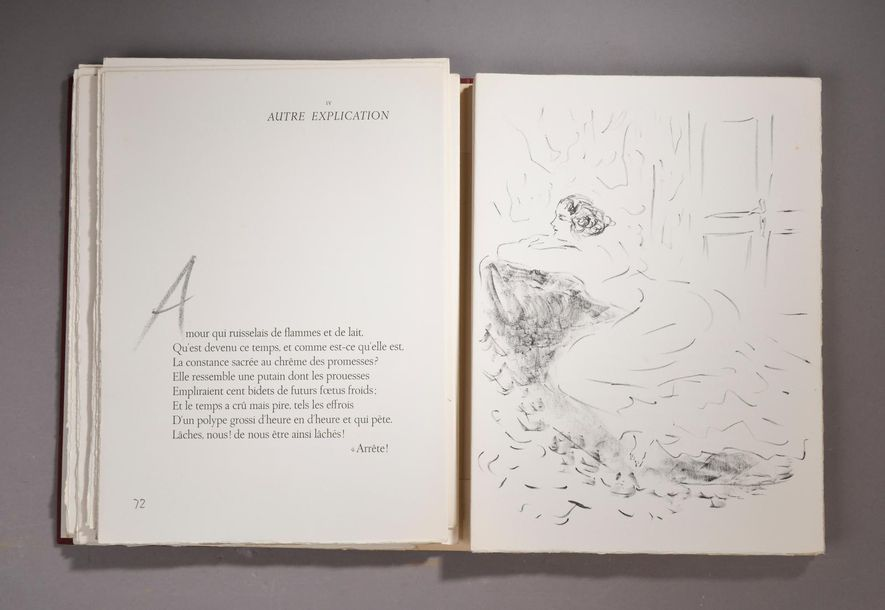 VERLAINE (Paul), Parallèlement, Paris, Éditions Vialetay, 1954. In-folio, illustré…