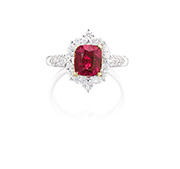 A Ruby and Diamond Ring US$19,200 25,600