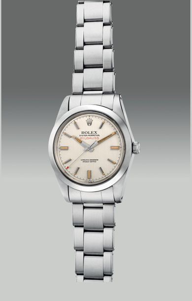 Rolex An attractive and rare stainless steel anti magnetic wristwatch with cente…
