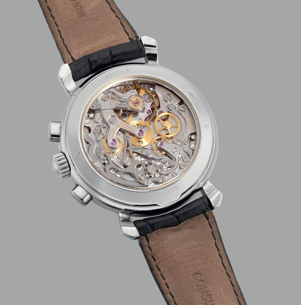 """Vacheron Constantin A fine and attractive platinum chronograph wristwatch with """"…"""