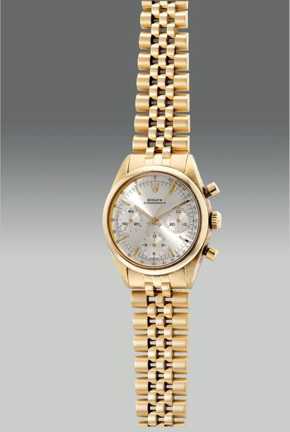 Rolex A very fine and rare yellow gold chronograph wristwatch with bracelet €64,…