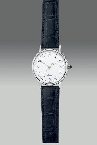 Breguet A fine and attractive limited edition platinum wristwatch with center se…