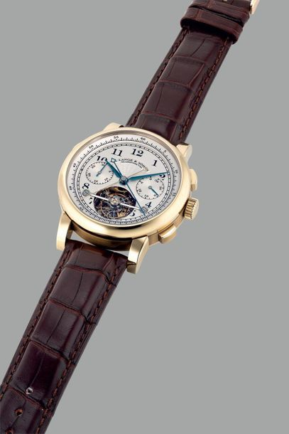 A. Lange & Söhne A very fine, rare and important limited edition honey gold tour…