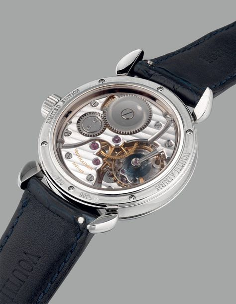 Voutilainen A very nice and attractive limited edition white gold chronometer wr…