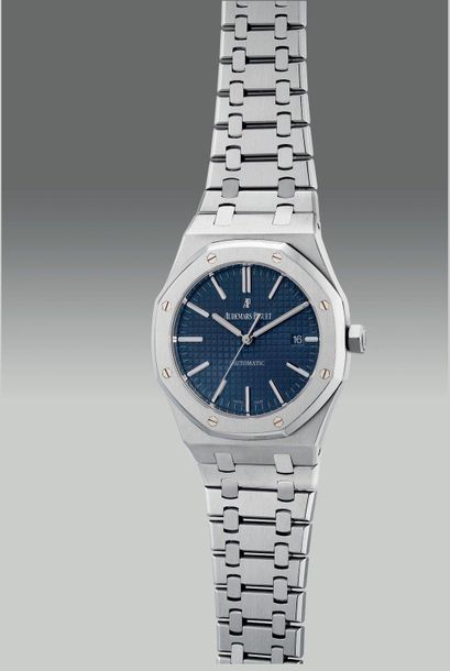 Audemars Piguet A fine and attractive stainless steel wristwatch with center sec…