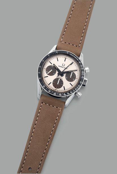 Universal A rare and highly attractive stainless steel chronograph wristwatch wi…