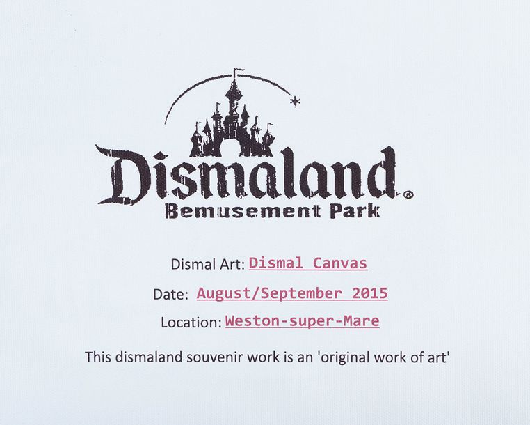 Banksy, Winston Churchill, on the reverse printed description Dismaland Bemuseme…