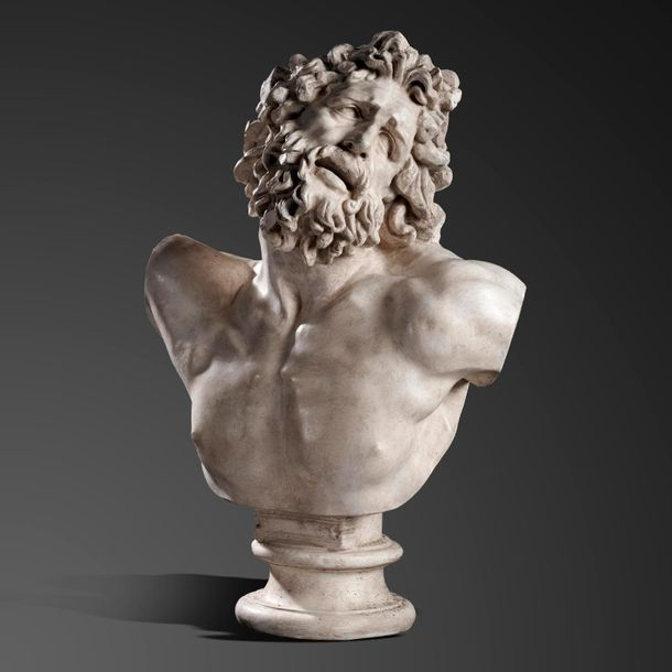 Interior Design/Decoration: After the Antique: A monumental plaster bust of Herc…
