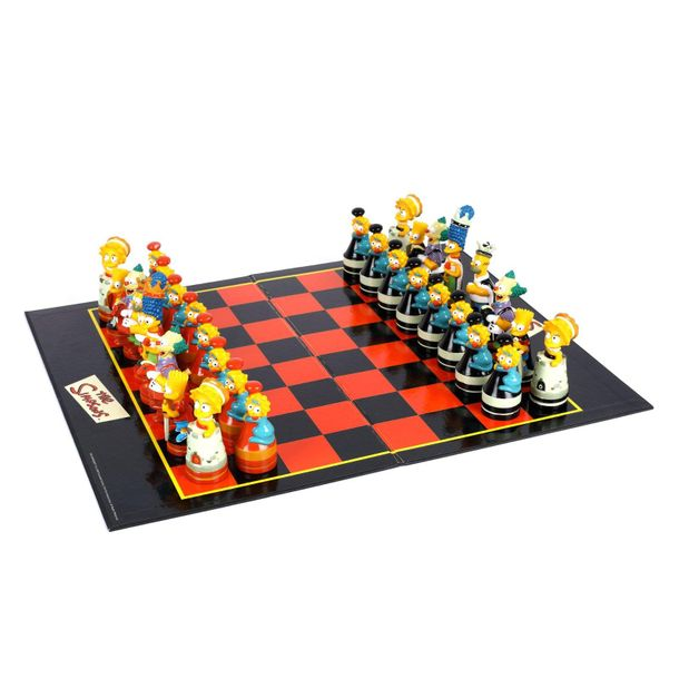 The Simpsons themed chess game, coloured plastic , 39 × 29 cm