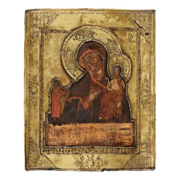 """""""Virgin Mary and the Baby Unexpected Joy"""", Russian school, second half of 18th c…"""