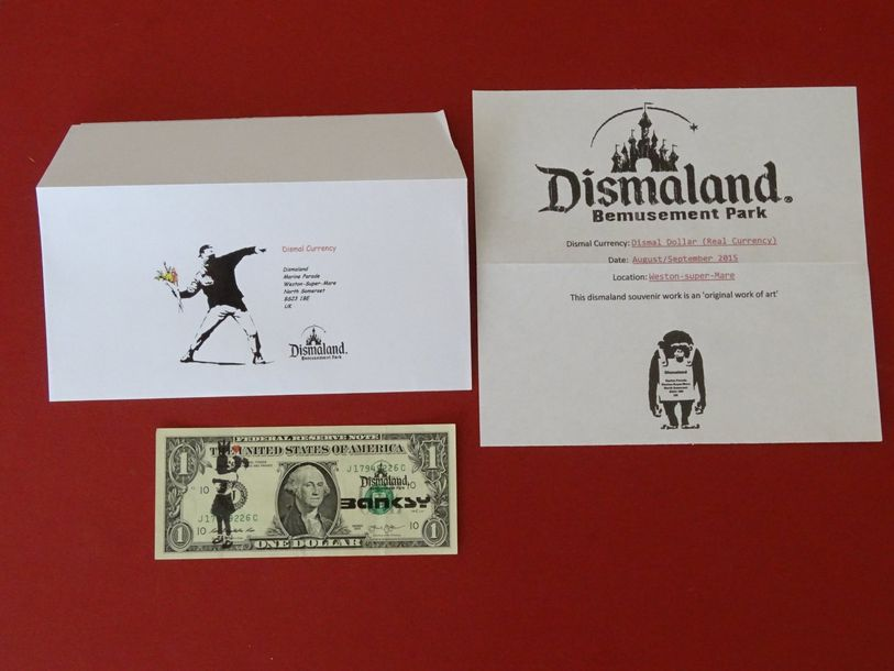 Very rare, form Dismaland  Up for sale original note . This is legal tender . Th…