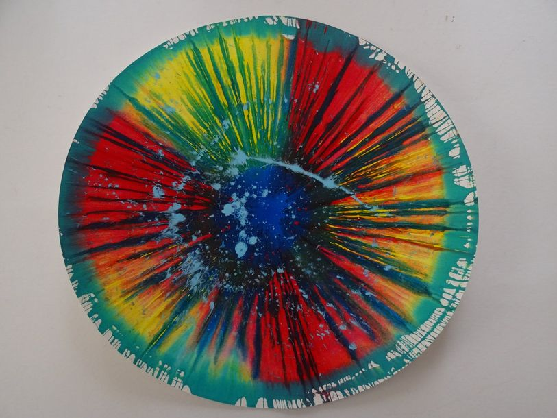 Damien Hirst (after) Spin Painting .Acrylic paint on paper 
