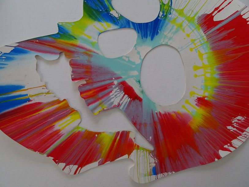 Damien Hirst (after) Spin Painting .Acrylic paint on paper  Ukraine, 2009  Dam…