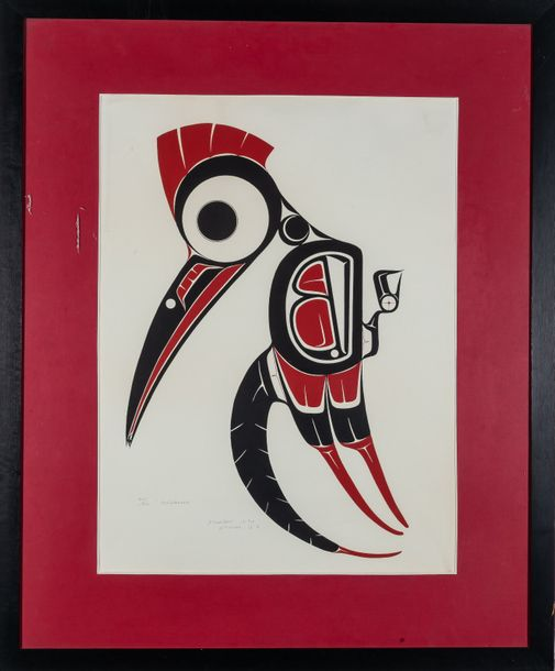 "Art Thompson (Canada, 1948 2003) ""Woodpecker""  Serigraphy  Signed, dated in 1974…"