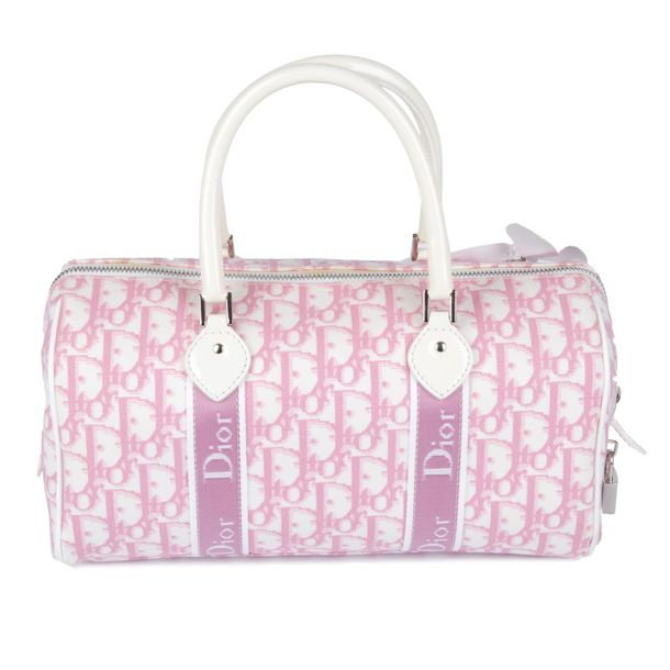 CHRISTIAN DIOR a Diorissimo Girly Boston handbag. Designed with the maker's pink…