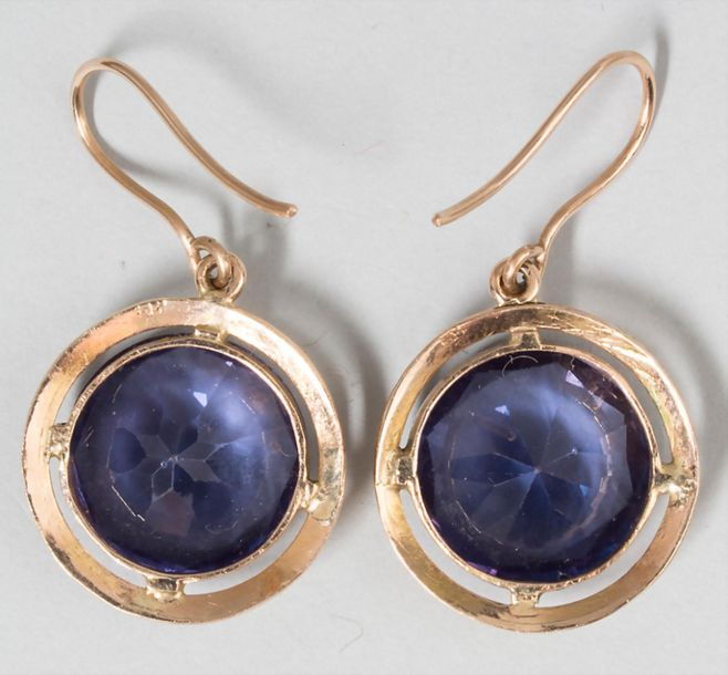 Damen Ohrhänger mit Amethyst / A pair of gold earrings with amethyst Material: R…