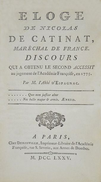 AA.VV. Collection of 5 French works in first edition of the XVIII century. AA.VV…