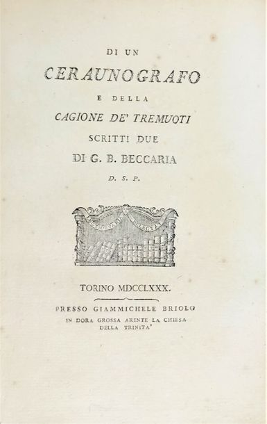 Geodesy and Astronomy. Gradus Taurinensis. Geodesy and Astronomy. BECCARIA, Giam…