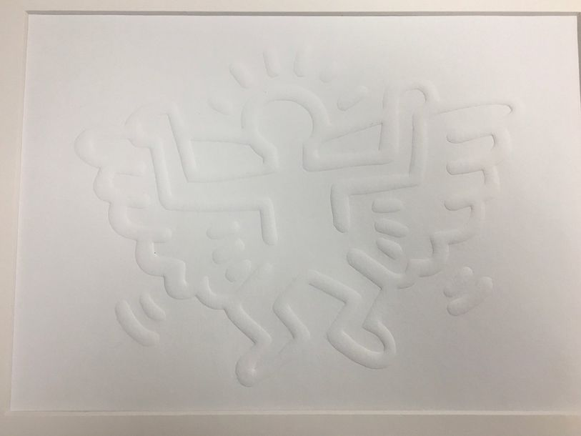 Keith Haring ( 1958 1990) (D'après)  White Icons Angel, 1990  Sérigraphie sur pa…