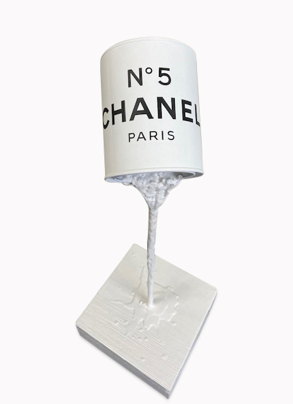 JOHN. TOBB (Né en 1953) Addict Suspension, 2020 CHANEL N°5  Sculpture (White)  P…