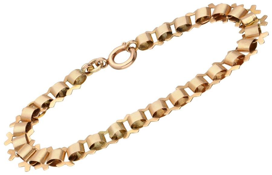 Rose gold bracelet 14 ct. L: 17 cm. Weight: 5.4 gram.