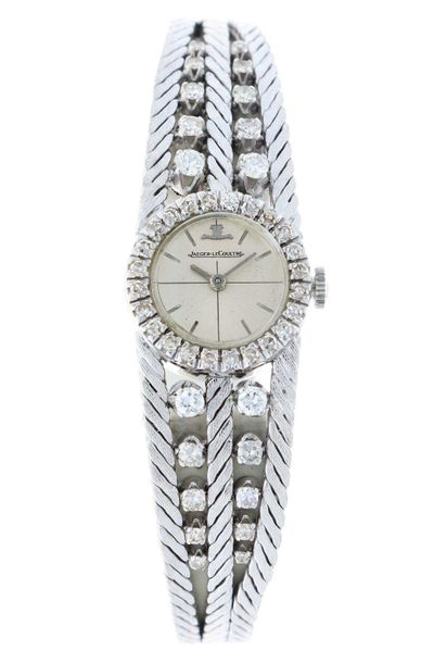 Jaeger LeCoultre Ladies watch Approx. 1960. Case: 18 ct white gold Strap: 18 ct …