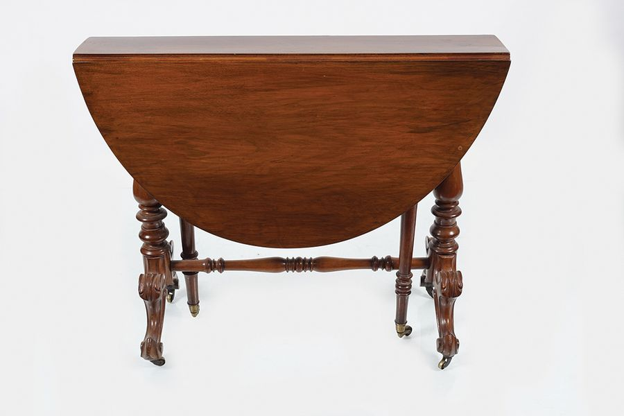 EARLY VICTORIAN ROSEWOOD YACHT TABLE the elongated rectangular top, with D shape…