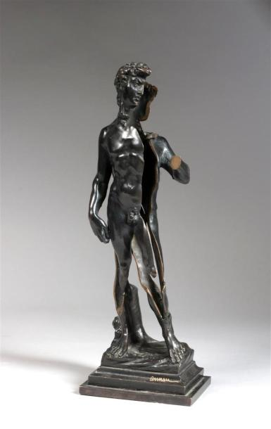 "ARMAN (1928-2005) "" David "" Epreuve en bronze à patine noir brillant Edition Romain…"