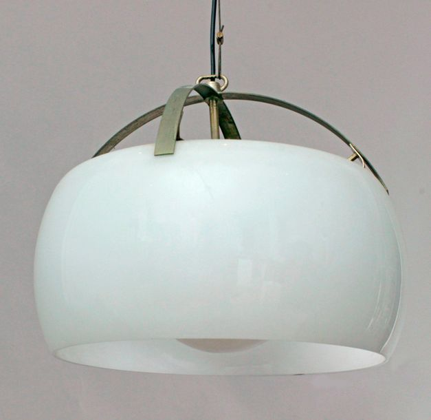 Vico Magistretti for Artemide circa 1960 1969. A pair of Omega ceiling lamps