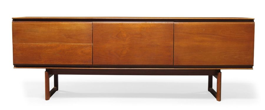 White and Newton Ltd, a teak sideboard  1960s, stamped '107 98' to reverse  With…