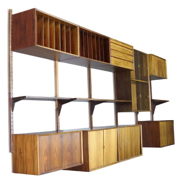 Poul Cadovius (1911 2011), a rosewood 'Royal System' wall storage system for Cad…