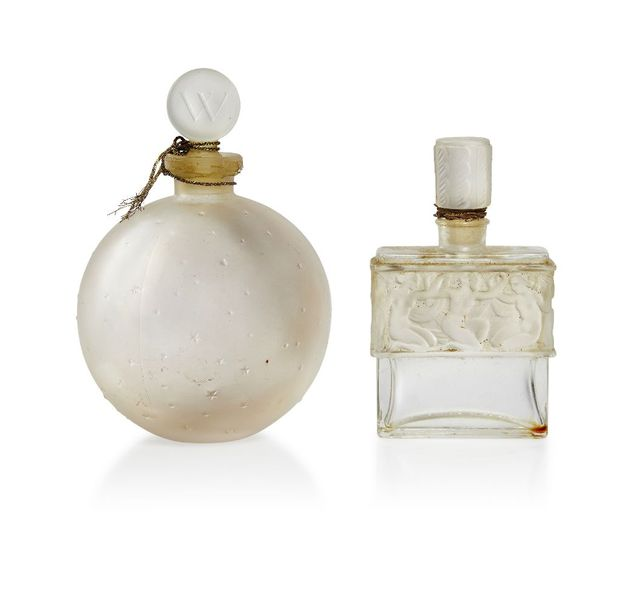 René Lalique (1860 1945), a clear and frosted scent bottle and stopper Worth, Da…