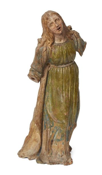 A painted terracotta figure of Mary Magdalene, Bolognese School, late 15th /earl…