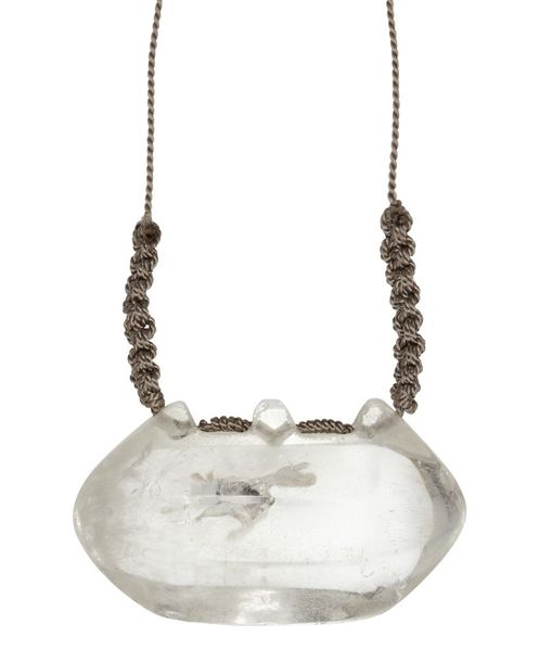 A large rock crystal talisman pendant, Iran or India, 17th 19th century, on mode…