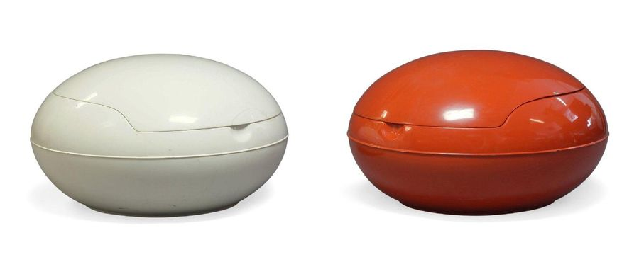 Peter Ghyczy (b.1940), two 'Garden Egg' chairs together with an un associated bl…