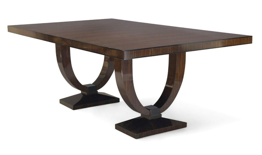 Davidson, London, a 'Grace' Macassar dining table together with six 'Archdale' d…