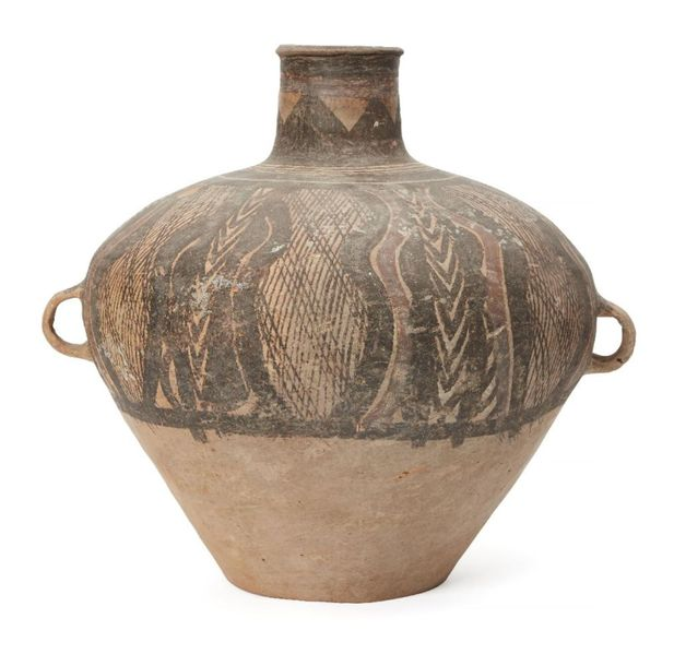 A large Chinese pottery jar, guan, Neolithic period, Yangshao culture, 3000 2500…