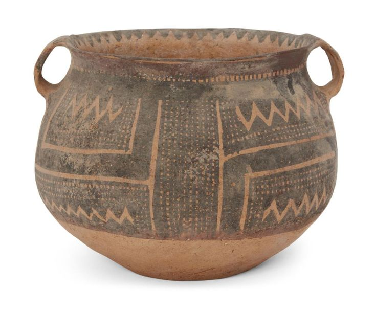 A Chinese pottery jar, Neolithic period, Majiayao culture, with broad mouth and …