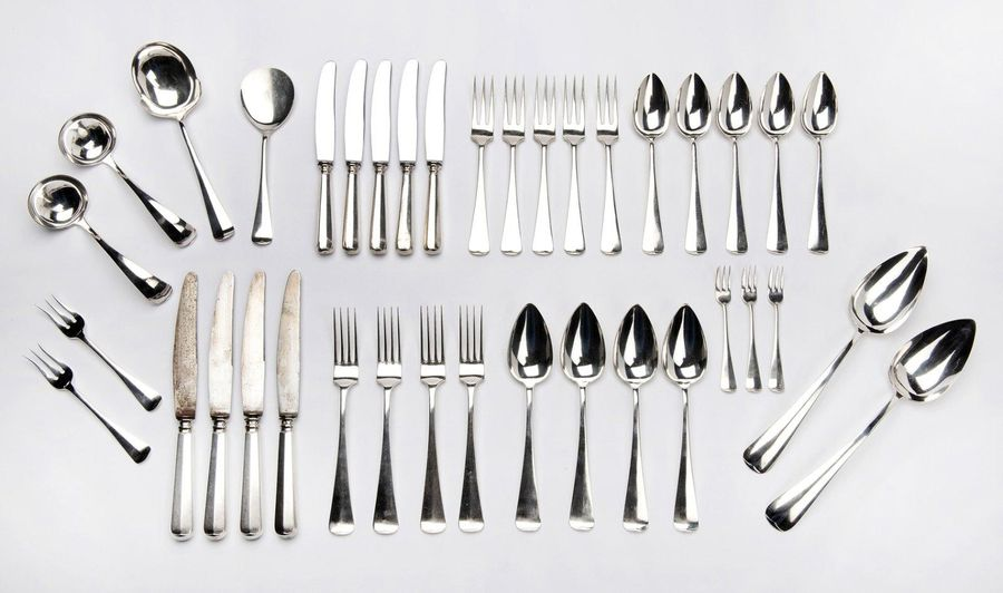 "A Dutch silver collection of flatware A Dutch silver collection of flatware, ""Ha…"