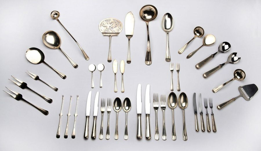 A Dutch silver collection of flatware, Christa Ehrlich A Dutch silver collection…